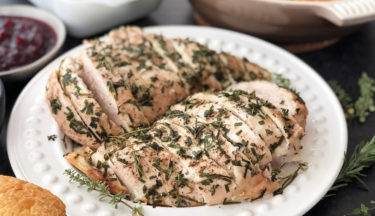 slow roasted herb marinated turkey breast